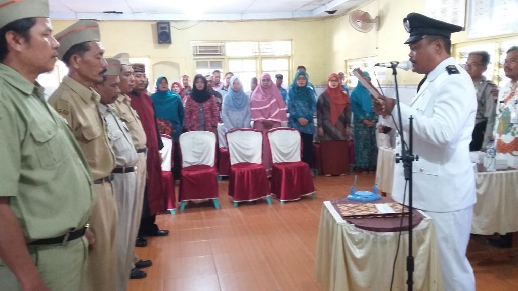 Pengambilan Sumpah dan Pelantikan Perangkat Desa hasil SOTK